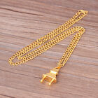 Fashion Hip Hop Heavy Gold/Silver Plug Men's Steel Rocker Pendant Necklace