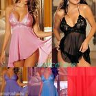 Soft 3XL 4XL 5XL Sexy Babydoll Lingerie Nightie Dress Outfit Sleepwear Plus Size