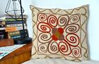 """Free Shipping from UK! Turkish Suzani Pillow Cover 100% Cotton Zippered 14""""x14"""""""