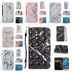 For Samsung Galaxy S4 Marble Pattern Glossy Synthetic Leather ID Card Case Cover
