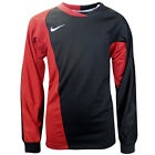 Nike Performance Short Sleeves Dri Fit Kids Rugby Top Black Red 329297 014 UA32