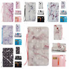 Fr Huawei P10 Lite Marble Pattern Glossy PU Synthetic Leather ID Card Case Cover