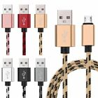 2M Braided Micro USB Data Sync Charger Cable Cord For SAMSUNG LG Android
