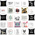 "18"" Funny Words Polyester Throw Pillow Case Sofa Waist Cushion Cover Home Decor"