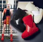 Womens Fashion Winter Fur Ankle Boots Increasing Heel Back Zipper Warm Shoes A66