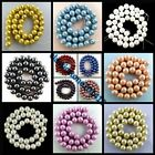 10mm  Exquisite Mixed Colour South Sea Shell Pearl Loose Bead 15.5Inch BBZDX
