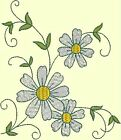 DAISY CORNER EMBROIDERY & REDWORK In 2 Sizes- Anemone Machine Embroidery Singles
