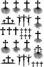 "Cross Tree Roots Select-A-Color 5"" X 3-1/2"" Card Fused Glass Decals"