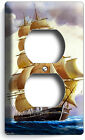 SEA SAILING SAILBOAT SHIP LIGHT SWITCH OUTLET WALL PLATE COVER HOME ROOM DECOR