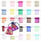 50/100/200pcs Gift Organza Bags Wedding Jewellery Candy Pouches Premium 13x18cm