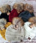 NWT Boutique Fur Pom Pom CC Beanie Hats - 20 colors to choose from!