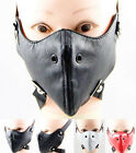 Faux Leather Half Face Mask Simple Gothic Punk Ski Motorcycle Raves Unisex Party