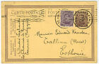 Postal Stationery Card from Belgium to Reval in Estonia, 1922