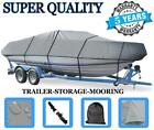 GREY+BOAT+COVER+FITS+Bayliner+1600+Capri+LS+1996+1997+1998+TRAILERABLE