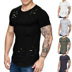 New Mens Slim Fit  Crew neck T-shirt Short Sleeve Muscle Tee Size S M L XL XXL