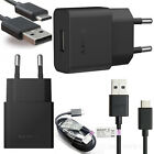 Sony UCH20 EU 2-Pin Travel Mains Charger Adapter Plug + UCB20 Type C USB Cable