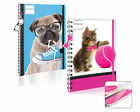 A5 Spiral Notebook Ruled Paper Cute Pet Design Twin Wiro Bound Stationery PGEZ