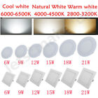Round/Square Panel Dimmable Recessed LED Ceiling Light 6W-21W Downlight Bulb AU
