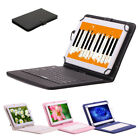 """iRULU Multi-Color 10"""" PU Leather Case Cover Stand Micro USB Keyboard for Tablet"""