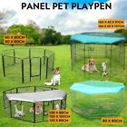 8 Panel Pet Dog Playpen Puppy Exercise Fencing Fence Enclosure Cage Heavy Duty