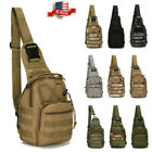 Mens Molle Tactical Sling Chest Bag Assault Pack Messenger Shoulder Bag Backpack