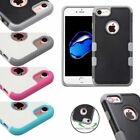 For iPhone 7/8/7 Plus/8 Plus Armor Hard & Soft Rubber High Impact Skin Cover $8.99 USD