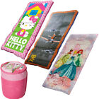 Disney Kids Camping Sleeping Bags Warm Weather Princess Planes Hello Kitty Youth