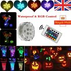 1-24 PCS LED RGB Submersible Waterproof Party Vase Decor Base Light +RGB Remote