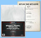 BCW: Sleeves: SHEET MUSIC Size:9 3/8 x 12¼ 200ct (2 packs) *FREE SHIPPING in USA