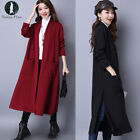 New Womens Casual Long Sleeve Knitted Cardigan Loose Sweater Outwear Jacket Coat