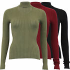Ladies Knitted Ribbed Jumper Brave Soul Womens Choker Neck Top Sweater Winter