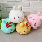 "Molang 10"" Lieing Cute Rabbit Bunny Soft Doll Cushion Pillow Mozzi Anime Toy"