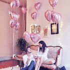"18"" Heart Shaped Foil Helium Balloons Wedding Party Birthday XMAS Supplies Pink"