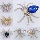 8 Colors Wholesale Women Exquisite Spider Crystal Brooch Pin Jewelry Accessories