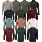 Mens Polo T-Shirt Brave Soul LINCOLN Long Sleeved Jersey Pique Golf Top