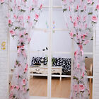 Home Floral Tulle Curtains Sheer Curtains For Living Room Bedroom Panel