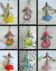 GUARDIAN ANGEL CAR MIRROR DANGLE CHARM PINK LILAC RED GREEN BLUE YELLOW