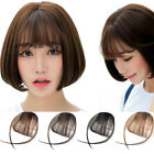 Cute Women Clip In Bangs Fringe Fake Hair Extensions Straight Front Hair Bang UK