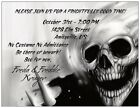 Scary SKELETON SKULL Halloween Party Invitation
