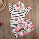 Newborn Infant Baby Girl Long Sleeve Hooded Tops Pants 2PCS Outfit Set Clothes