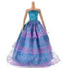 1x Party Wedding Dresses Clothes Gown For Barbie Dolls Girls Random Style TBUS
