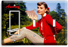 AUDREY HEPBURN BEAUTIFUL RETRO ACTRESS LIGHT SWITCH OUTLE WALL PLATE ROOM DECOR