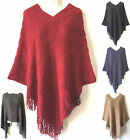 Sexy Women Knit Batwing Top Poncho Cape Cardigan Coat Sweater Outwear Jacket 80