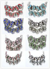 NEW 5 Pcs Silver MURANO GLASS BEAD LAMPWORK Fit European Charm Bracelet  8Color