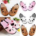 Fashion Women Lovely Cartoon Panda Home Floor Soft Stripe Slippers Female Shoes
