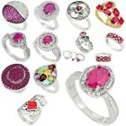 Factory direct jewelexi red 925 sterling silver ring jewelry 5032B