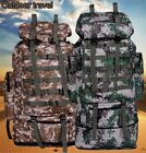 80L Waterproof Travel Luggage Rucksack Backpack Bags for Sports Camping Hiking