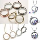 30 mm Living Memory Floating Charms Glass Round Locket Charm Pendant Necklace