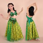 Children Girls Belly Dance Costume Top Skirt Outfit Bollywood Carnival Dress Up