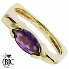 BJC® 9ct Yellow gold Amethyst 1.00ct Marquise Solitiare ring R270